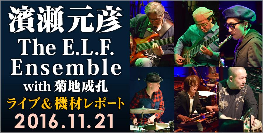 濱瀬元彦 The E.L.F. Ensemble with 菊地成孔 2016.Nov.21. Live at JZ Brat ライブ&機材レポート ~2人の多弦ベーシストw/GK、そのシステムを訊く。~
