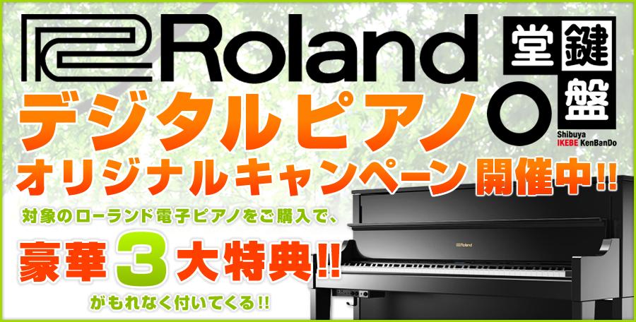 【鍵盤堂 ローランドデジタルピアノ・オリジナルキャンペーン!対象商品ご購入で当店オリジナル豪華3大特典プレゼント!】